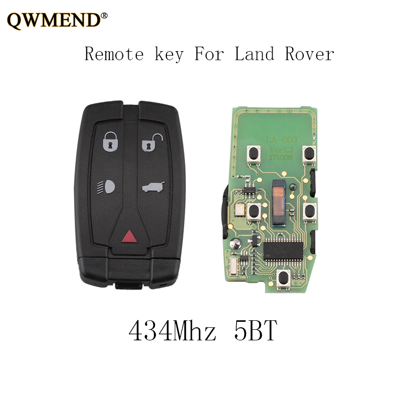 QWMEND 3pcs 5BT 433Mhz Smart Remote Key Keyless Fob For Freelander Land Rover LR2 2008 2009