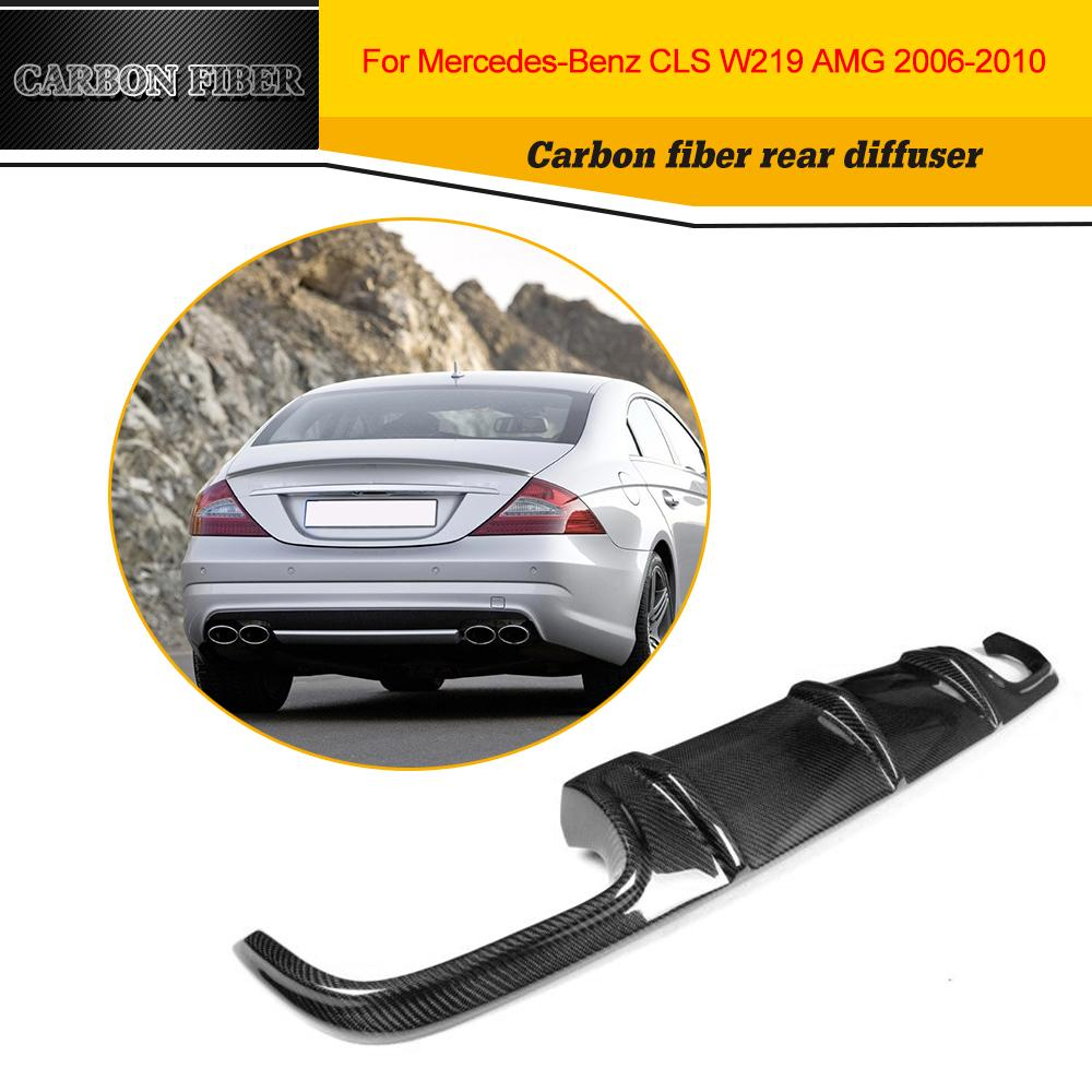 Car Styling Carbon Rear Diffuser Lip Spoiler For Benz CLS Class W219 AMG Bumper