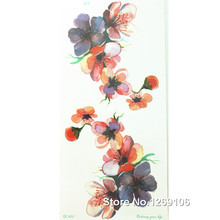 Design Beautiful Flower 21x10cm Cool Waterproof Temporary Tattoo Stickers