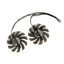 2pcs/lot DC12V 0.35A PLD08010S12HH cooler fan for MSI R6790 R6850 N460GTX 570GTX GTX 580 Twin Frozr II Graphics card cooling