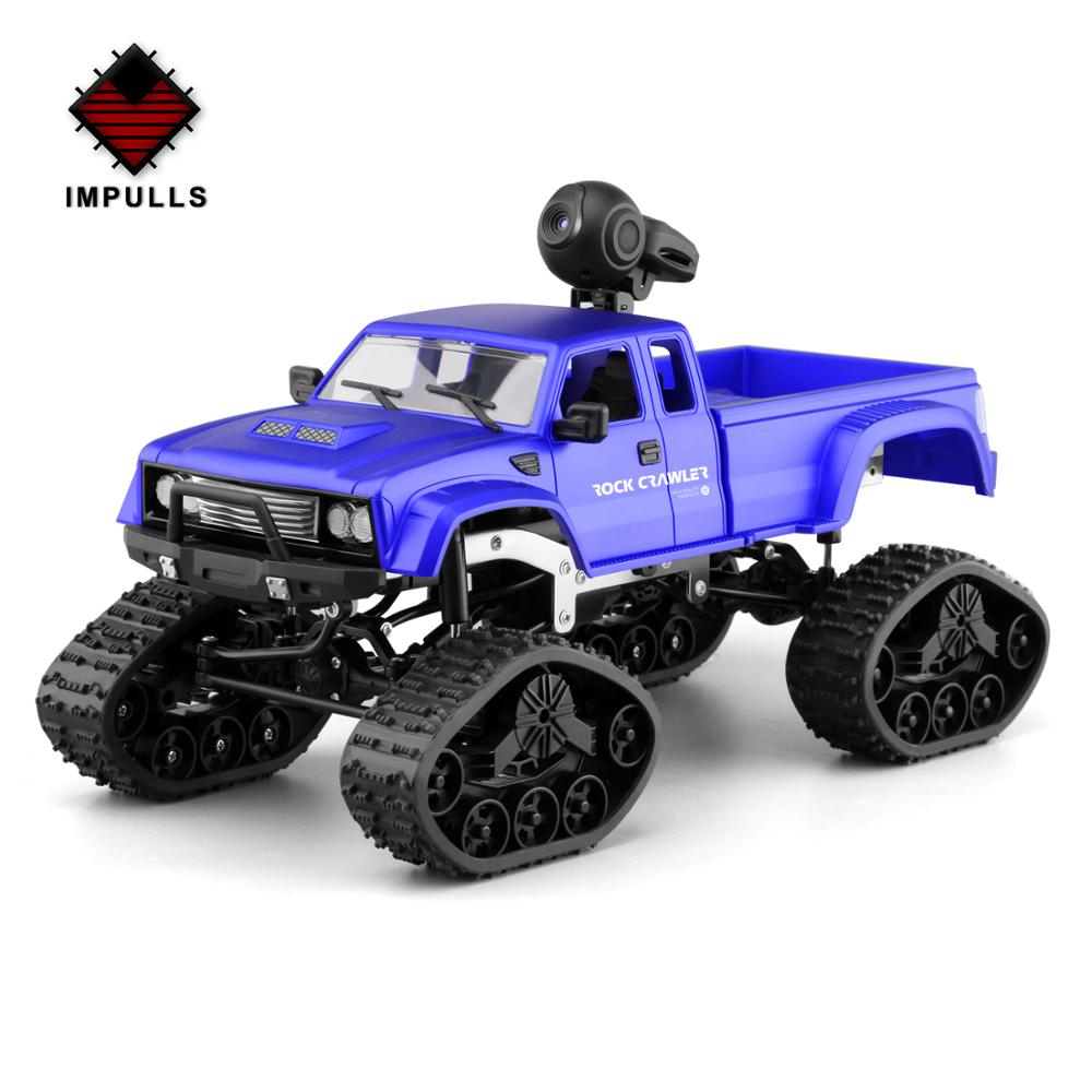 Impulls New 2 4G Four Drive RC Car Third Generation Heavy Truck With Camera Track Wheel