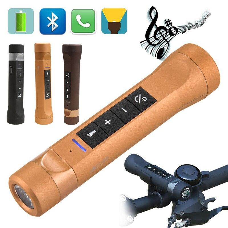 2017 New Outdoor Sport 5in1 Multi-Function Bluetooth Speaker Flashlight Power Bank Speakers Handsfree Mic For Sport Bike