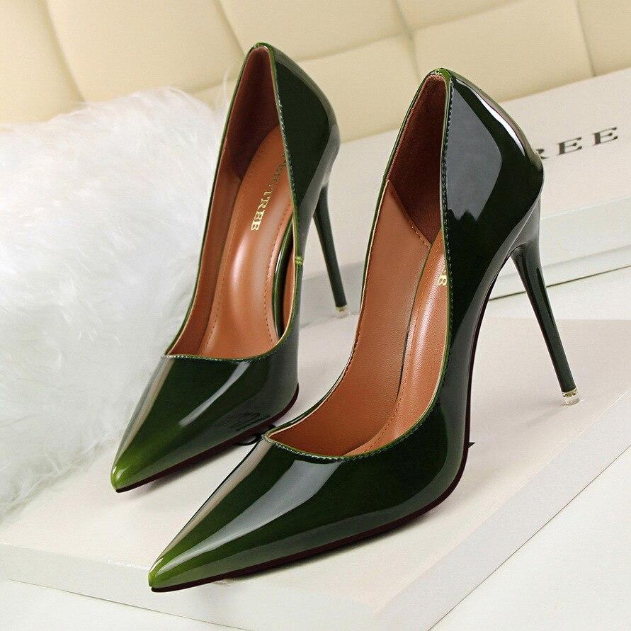 Talons forme khaki Mode vert pourpre rouge vin Pompes Plate Pointu bleu Carrière Femmes 1 2018 Haute Bout D'été 2617 Rouge Chaussures Noir Sexy lFT1J3uKc