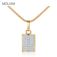 MOLIAM 2017 Vintage Necklaces Pendants Snake Chain Statement Bling Fashion White Crystal Zirconia Necklace Women Jewelry MLP045(China)