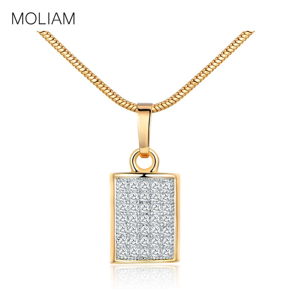 MOLIAM 2017 Vintage Necklaces Pendants Snake Chain Statement