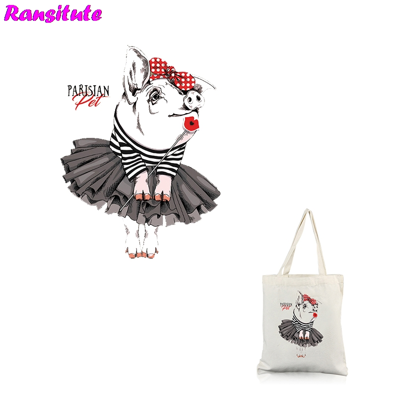 Ransitute R310 Pig Series 1 Patch DIY Clothing Printing T-shirt Thermal Transfer Washable Heat Transfer