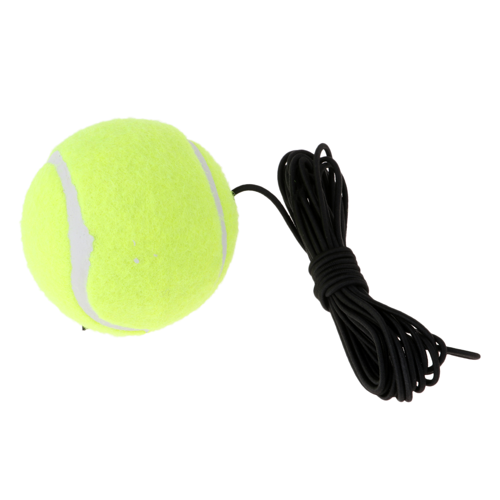 Portable Premium Green Rubber Felt Tennis Ball Trainer Ball & String For Single Tennis Player Training Durable Lightweight