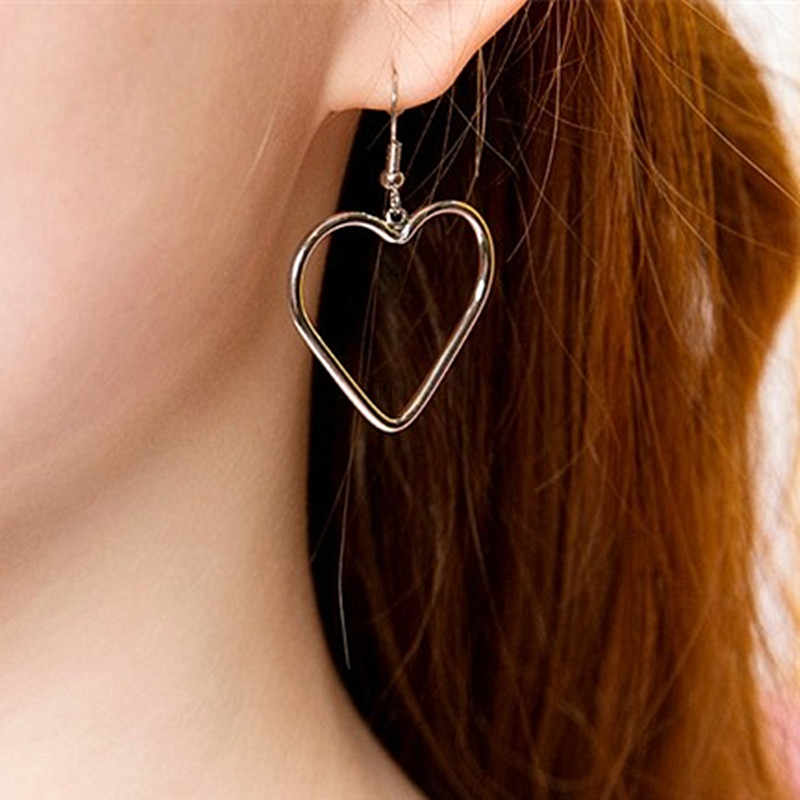 ES166 Heart Drop Earrings Fashion Jewelry boucle d'oreille Women Dangle Brincos LOVE Romatic Cute Wedding Earring Promotion HOT