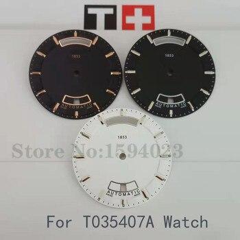 32.7 millimetri della manopola della vigilanza adatto per T035407A maschio meccanico T035 orologio testo guarda accessori adatto per T035407 parti di riparazione