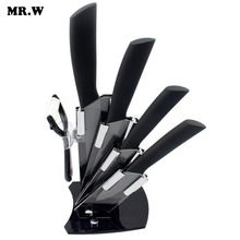 Brand Kitchen Knives High Quality Black Blade Kicthen Ceramic Knife Set 3″ 4″ 5″ 6″ inch + Peeler + Holder cuchillos de cocina
