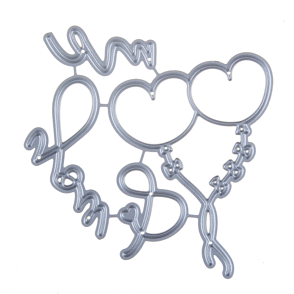 78*75mm scrapbooking DIY frame love Shape Metal steel cutting die Heart balloons Shape Book photo album art card Dies Cut