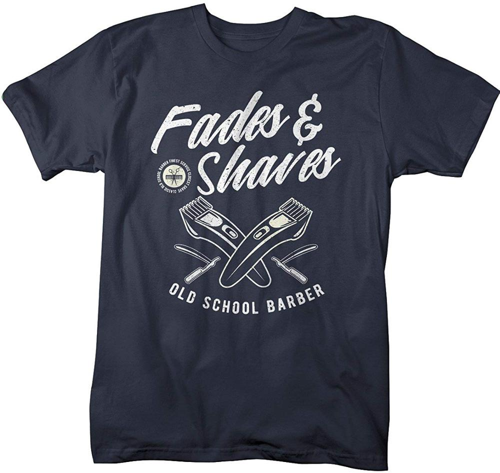 Men'S Barber T-<font><b>Shirt</b></font> Fades <font><b>Shaves</b></font> Vintage Hipster Barbers <font><b>Shirt</b></font> mens Hot 2019 Summer Men Short Sleeves T <font><b>Shirt</b></font> Funny Tee <font><b>Shirt</b></font> image