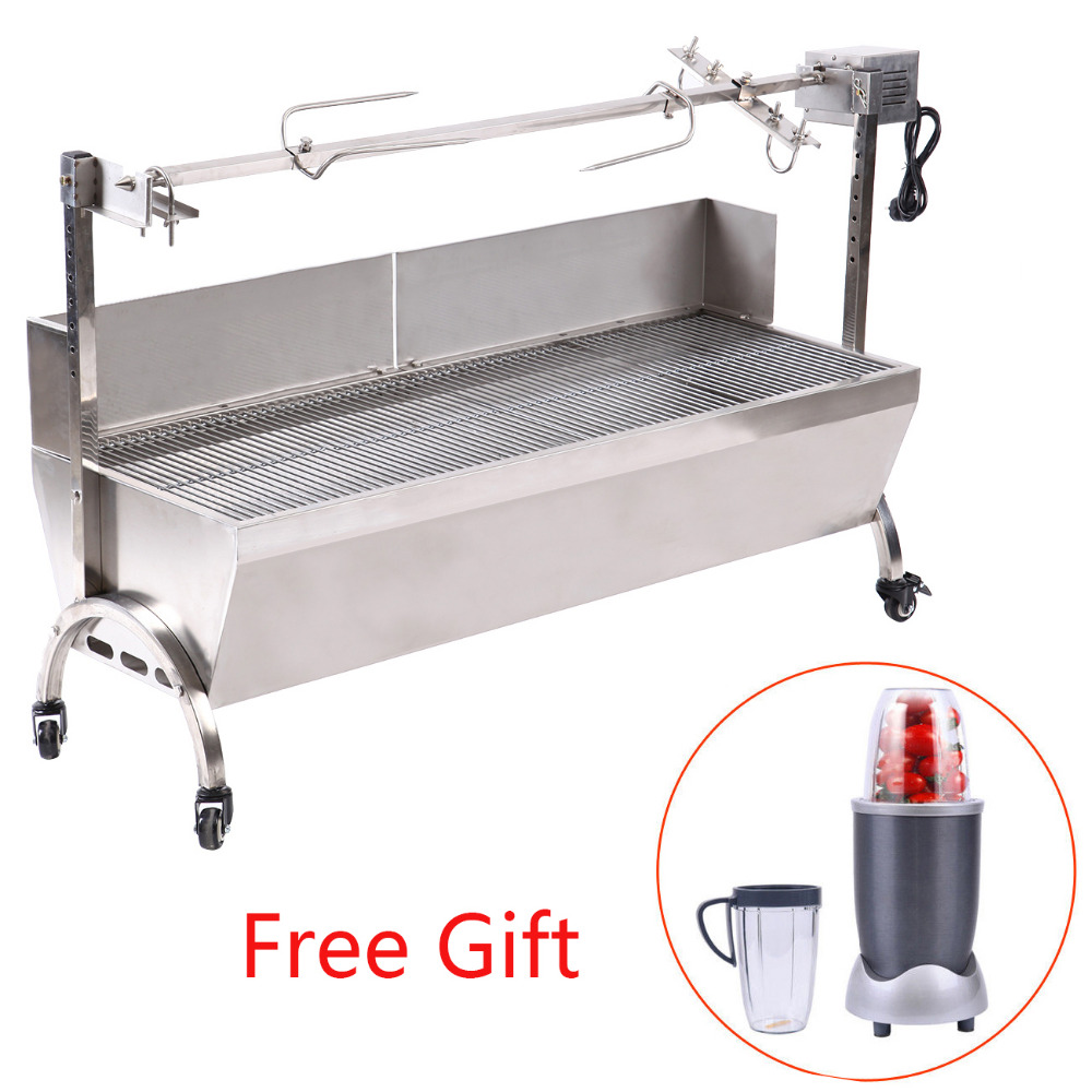 Electric barbecue Stove barbecue lamb BBQ stainless steel charcoal barbecue skewer rotis ...