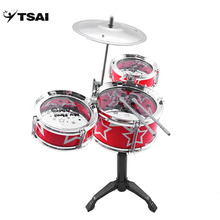 TSAI Drums Toy Rock Simulation Musical Instruments Children Kids Educational Improving music ability for Children ship from USA