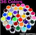 Professional salon 36 Pot Pure Solid Colors UV Gel for UV Nail Art Tips Extension Decoration 36 Jar/Set