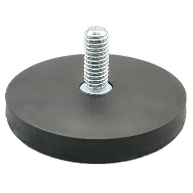 Magnetic Disc in Rubber Dia. 22/43/66/88 mm Threaded LED Light Spotlight Holder NdFeB Strong Magnet Wedding Car Wreath Holder