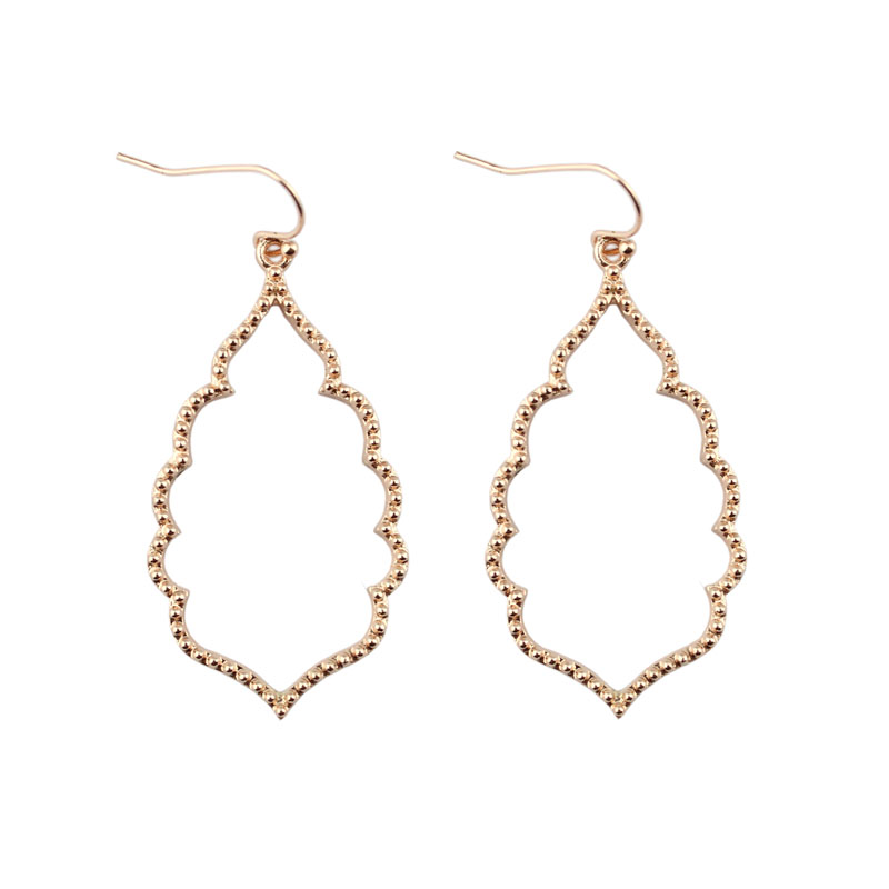 4 цвета,, хит, бренд, дизайнерские, вдохновленные, выдолбленные Висячие серьги-капли для женщин, серьги-капли с монограммой - Окраска металла: E2895-Rose Gold