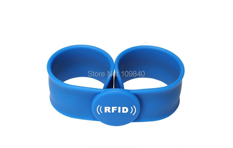 200pcs 13.56mhz Silicone RFID ruler wristband with S50 chip bracelet for access control