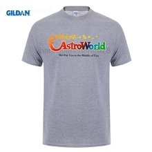b4496e052446 GILDAN Astroworld Theme Park Houston, Texas Promo Logo T Shirt(China)