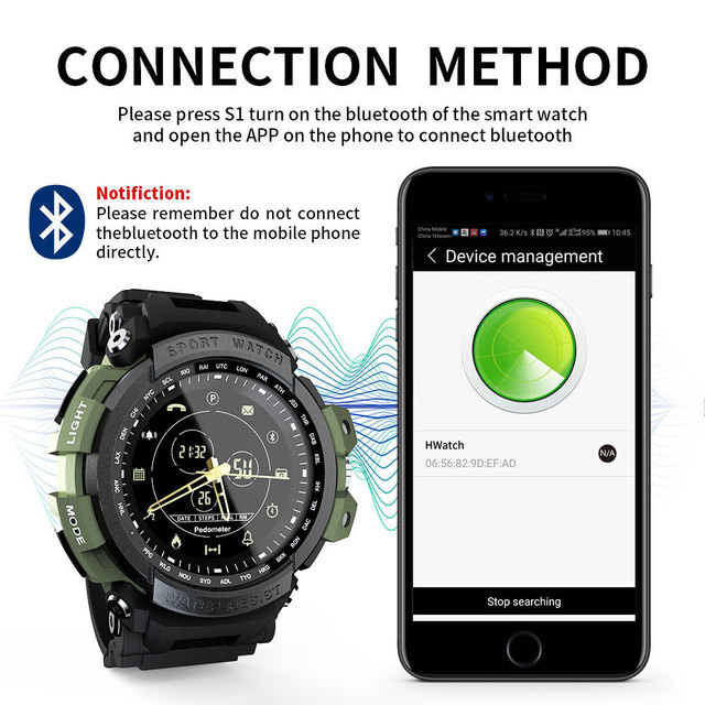 New LOKMAT SmartWatch Sports 50m Waterproof Bluetooth Call Reminder men Smart Watch For ios and Android phone 5