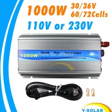 1000 Вт 30 В/36 В сетка галстук инвертор MPPT функция чистая синусоида 110 В или 230 В выход 60 72 ячеек панель Вход на сетке галстук инвертор
