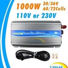 1000 W 30 V/36 V Izgara Kravat Inverter MPPT fonksiyonu Saf Sinüs dalga 110 V VEYA üzerinde 230 V çıkış 60 72 HÜCRELERI paneli girişi ızgara kravat inverter
