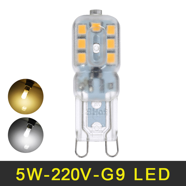 mini g9 led bulb 5w 220v led g9 lamp smd2835 lampada led bulb chandelier lights high - G9 Led Bulb