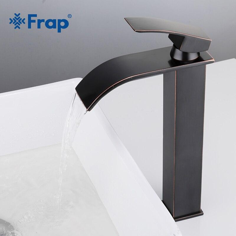 Frap Лидер продаж античный черный высокий водопад бассейна кран Одной ручкой Ванная комната смесителей горячей и холодной воды раковина стир...