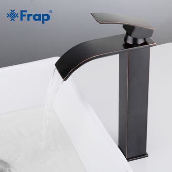 Frap Hot Sale Antique black tall Waterfall Basin Faucet Single Handle Bathroom Hot and Cold water Mixers Sink Washing Tap Y10138