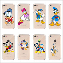 Cartoon Minnie Mickey Mouse Donald Duck Soft TPU Case for iPhone 7 8 6s 6 plus cover X XS MAX XR 5 5S SE lovely phone shell