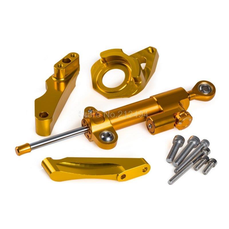 2015 Новый Регулируемый рулевой демпфер & Монтажный Комплект для Suzuki GSXR600 системы GSX-r600 о GSXR750 системы GSX-750 Рандов 2004-2005 золото