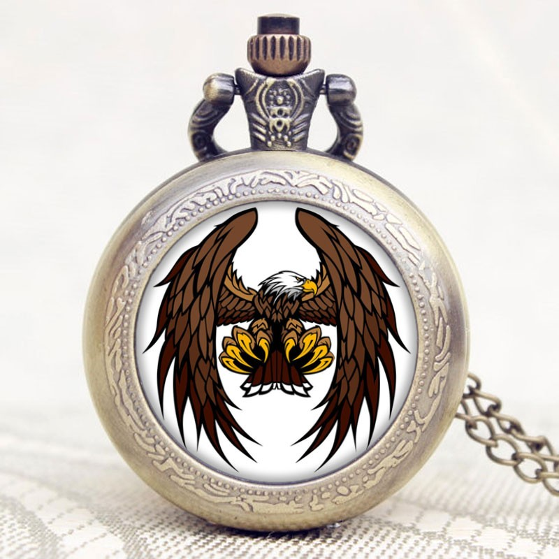 Pocket Watch Eagle Crest