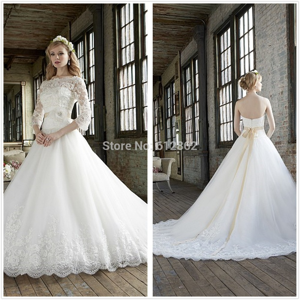 Wedding Gown With Removable Train: Aliexpress.com : Buy 2016 Removable Jacket Ball Gown Long