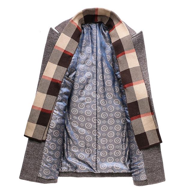 TIAN QIONG Autumn & Winter Single Breasted Woolen Coats 50% Off Men' s Wool Jackets Turn-down Collar Wool & Blends Overcoat