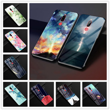 For Meizu X8 Case Tempered Galss Hard Back Cover For Meizu M8 Note Case Soft Bumper for Meizu Note 8 Cases Note8 X 8 For Meizux8 cheap 7 QIWEI Fitted Case Floral cute Business Plain Quotes Messages Patterned Animal Exotic TEMPERED GLASS Abstract Tempered Glass mirror case