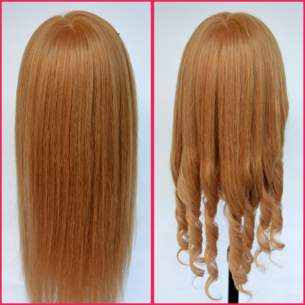 Mannequin Head For Sale 65% Real Hair Wig Head Good Quality Hairdressing Dolls Head Dummy Hairstyles Maniquies Women Head