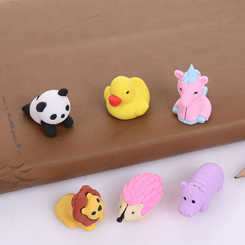 2 Pcs/lot  Lovely Cartoon KT Cat Modelling Eraser Kawaii Stationery School Office Supplies Correction Supplies Child's Toy Gift