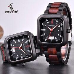 Relogio masculino BOBO BIRD Watch mężczyźni drewniane zegarki kwarcowe męskie Top marka luksusowe zegarki na rękę z datownikiem akceptuj Logo Drop Shipping w Zegarki kwarcowe od Zegarki na