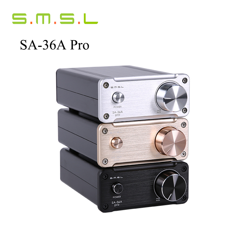 Newest SMSL SA-36A Pro 20WX2 TDA7492PE HIfi Audio Digital Amplifier Class d Power Amplifier With 12V Power Supply Free Shipping smsl sa 60 60w 2 tpa3116 big power digital hifi amplifier with power supply silver