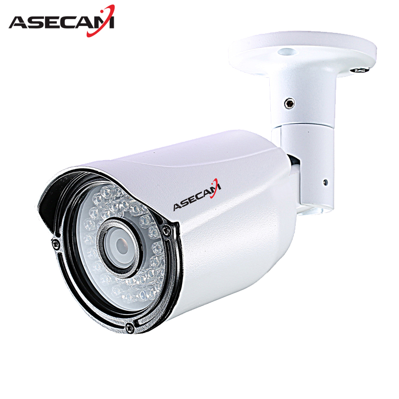 New 720P IP Camera CCTV Infrared 48V POE White Bullet Metal Waterproof Outdoor Onvif WebCam Security Surveillance p2p outdoor waterproof white metal case 1080p bullet poe ip camera with ir led for day