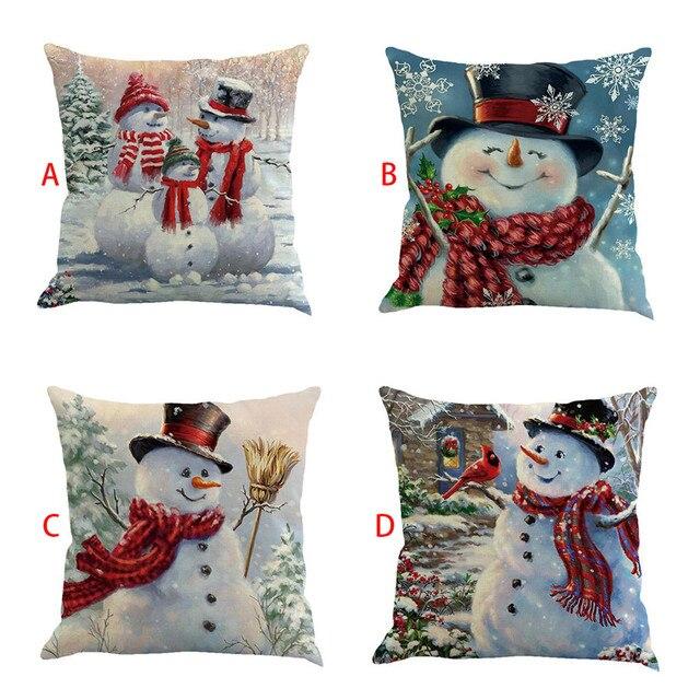 Buon Natale Decorazioni per la Casa carino pupazzo di neve Natale Noel Divano Le