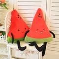 Especial lindo 1 unid 40 cm feliz fruta sandía muñeco de peluche mantenga almohada suave peluches cojín de peluche de juguete de los niños regalo de la novedad creativa