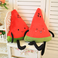 Special cute 1pc 40cm happy fruit watermelon plush doll hold pillow soft cushion stuffed toy children novelty creative gift