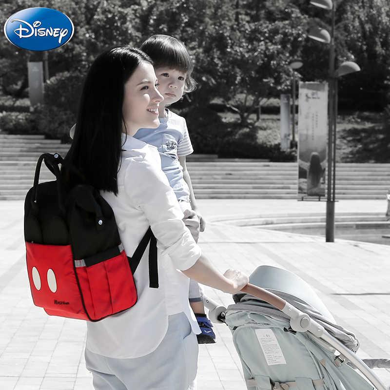 Disney Cách Nhiệt Túi USB Oxford Tã Vải Bảo Quản Ba Lô Cho Bé Chăm Sóc Túi Đựng Tã Lót Cao Cấp Bình Sữa Túi