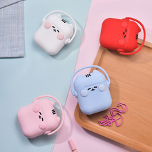 Cartoon Rock Cat Protective Silicone Case Cover Holder for Apple Airpods Cute Skin Accessories Box