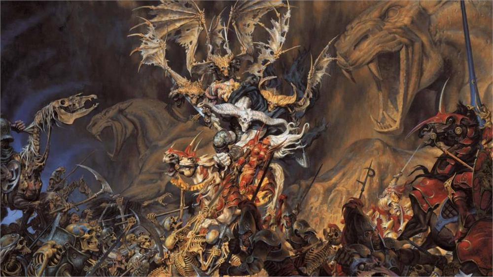 Battle Between Good And Evil Painting