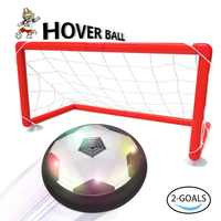 LED hover ball set with 2 goals And mini screwdriver - Children Toys for Boys Air Power Training Ball for playing football game