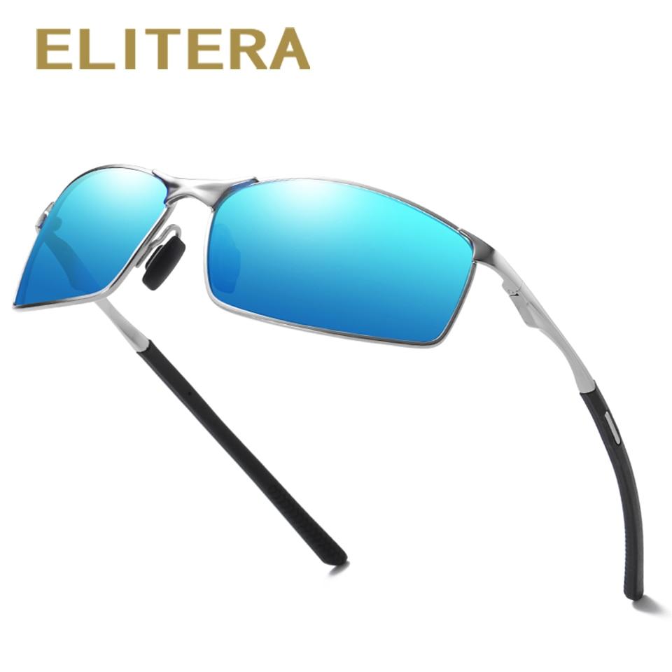 Elitera masculino clássico polarizado óculos de sol liga pernas esportes ao ar livre luz 100% óculos de proteção uvÓculos de sol   -