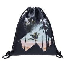 Fashion Backpack women Man Black mini backpack X Beach Drawstring bagmoltres cartoon school bags for teenagers mochilas