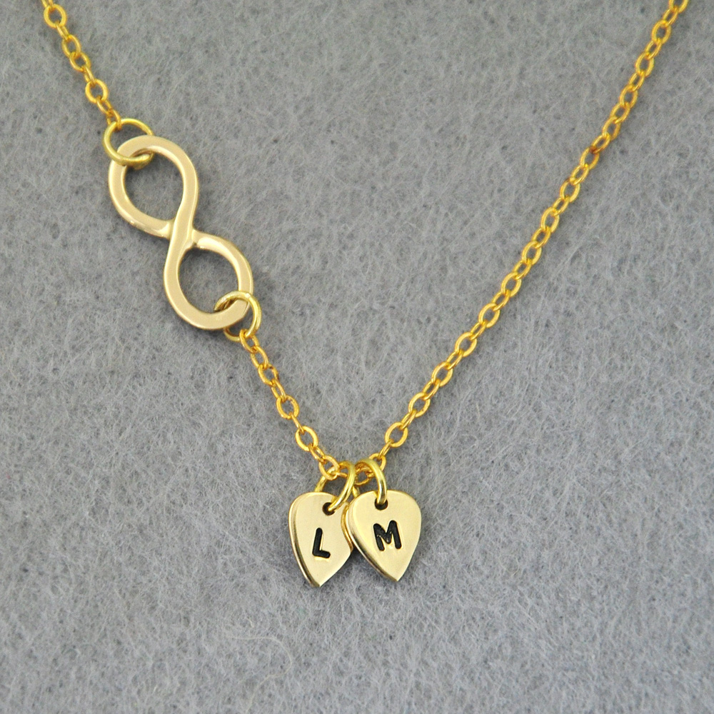 Buy personalized infinity necklace for Custom made jewelry stores
